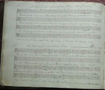 Hymn for Christmas Day, Nos 25 and 26, from Thomas Eynstone's MS.