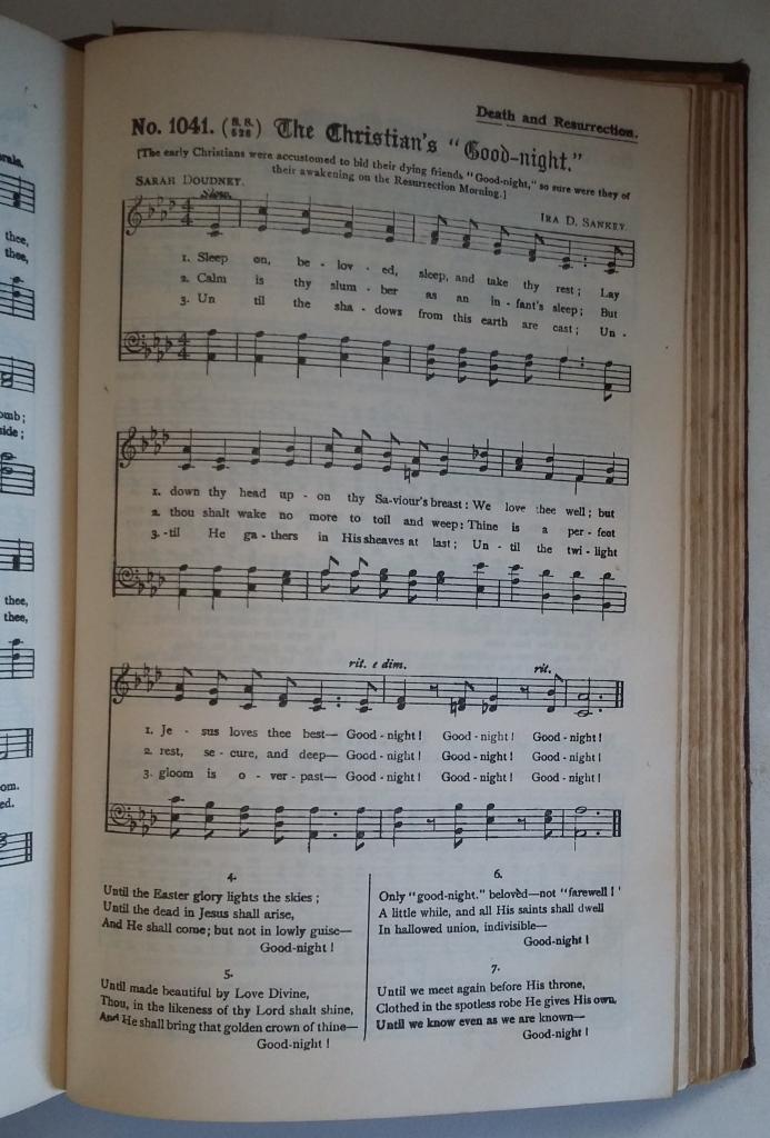 Sankey - The Christian's Goodnight